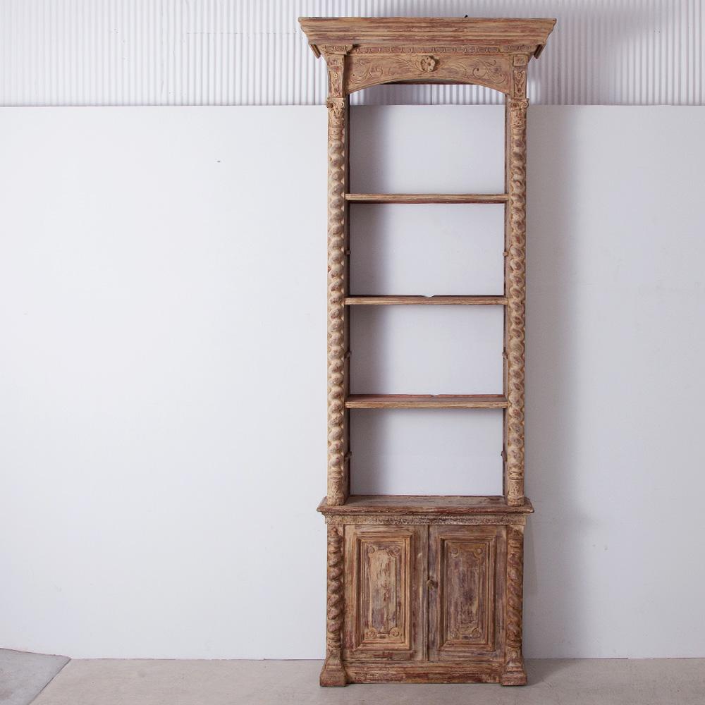 19th Century Pharmacy Shelf in Wood