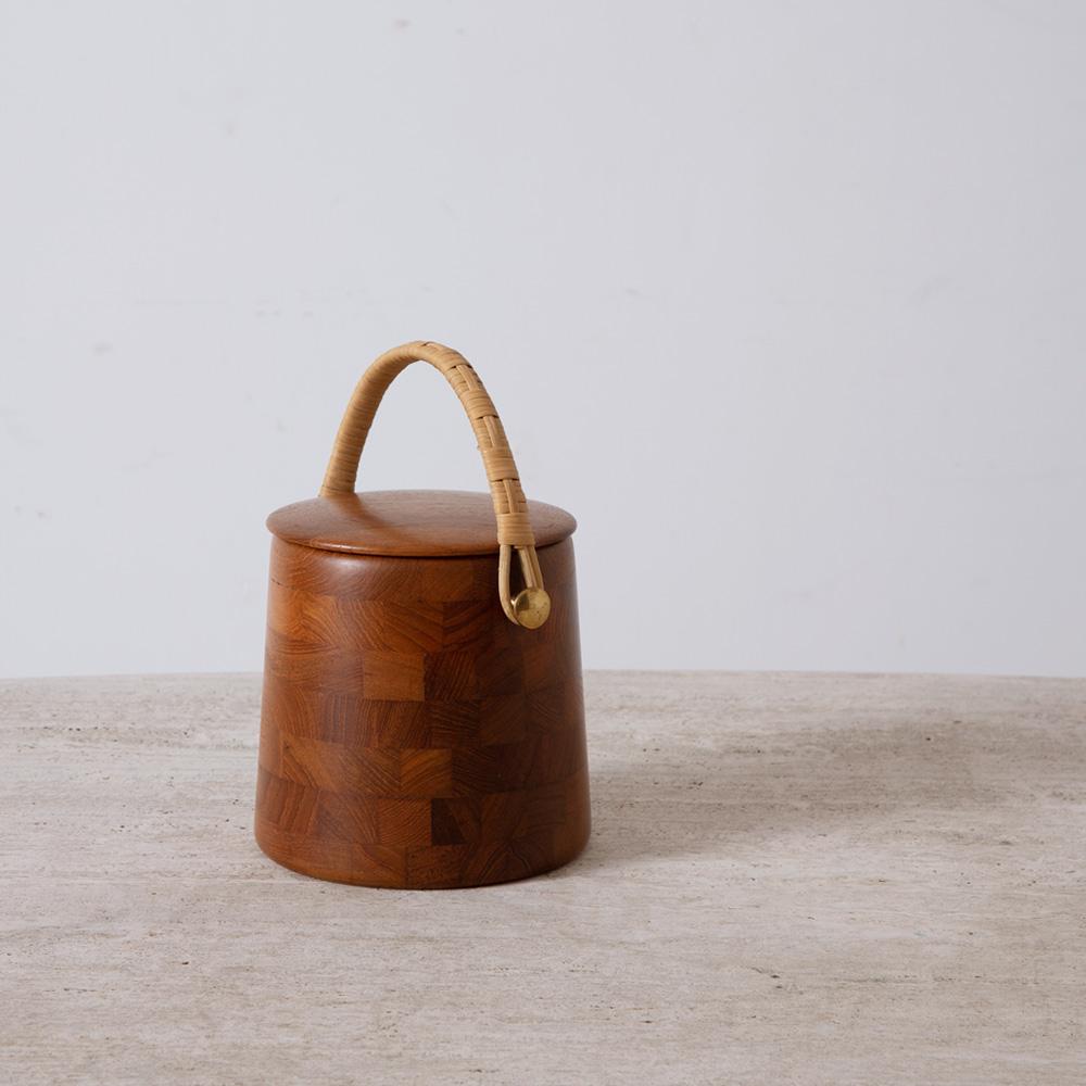 Danish Vintage Ice Basket in Teak for ESA