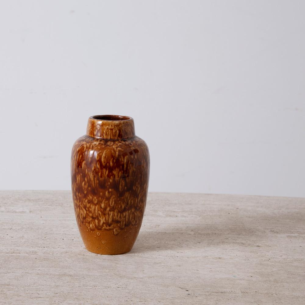 West Germany Vintage Flower Vase in Camel