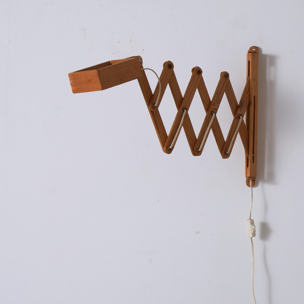 Architect Arm Wall Light in Pine