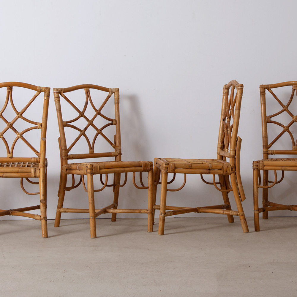 Vintage Dining Chair in Rattan