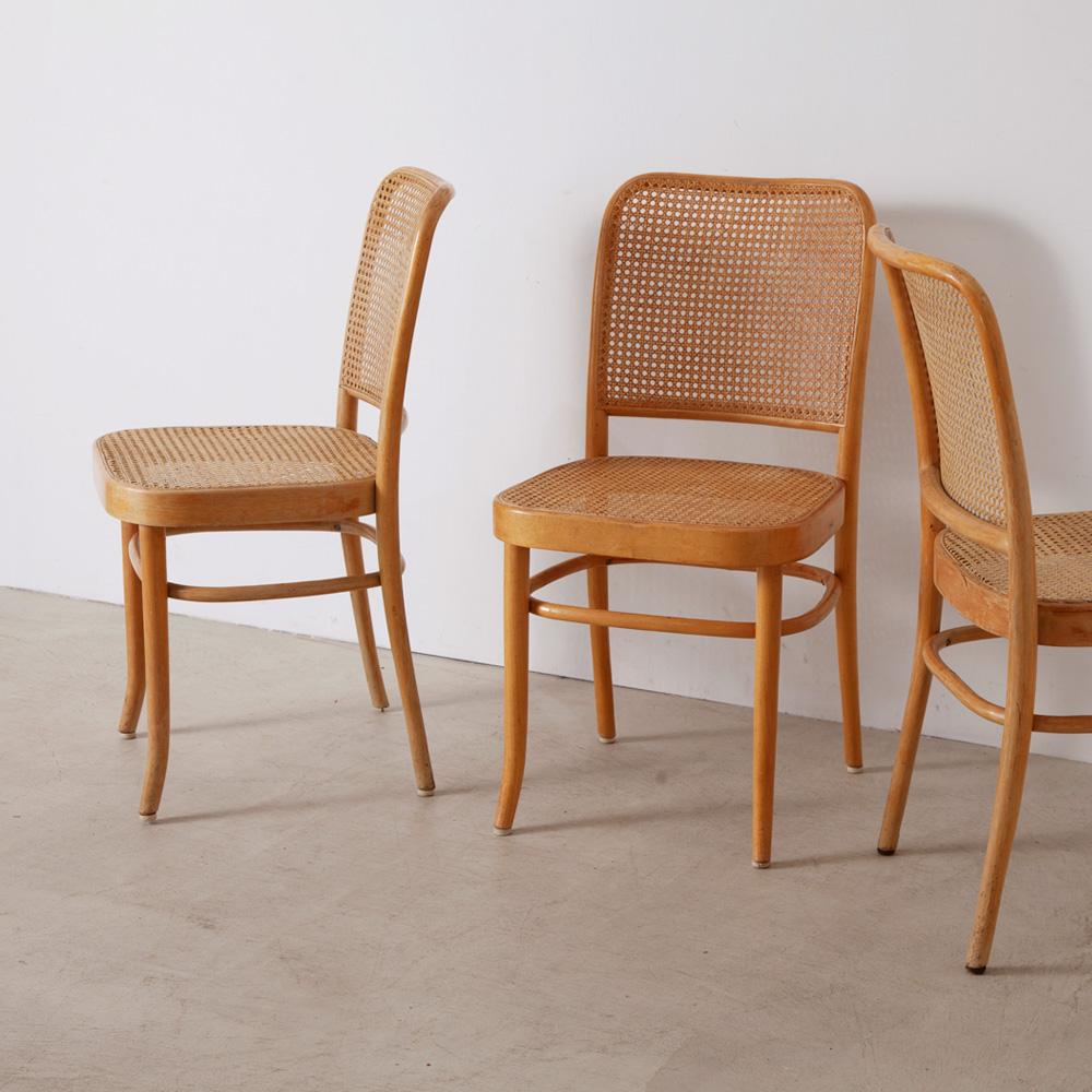 """Bent Wood Chair No.811 """"Prague"""" by Josef Hoffmann for THONET"""