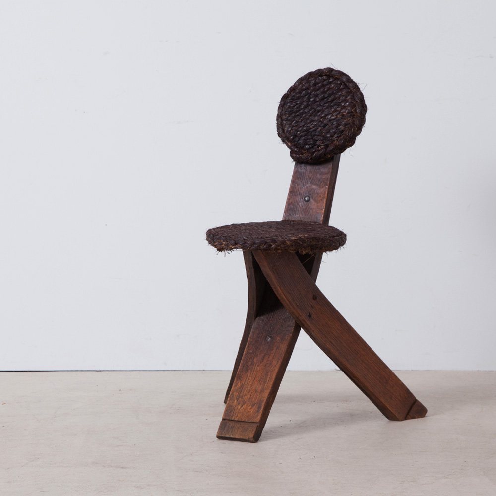 Occasional Chair in Black by Audoux Minet