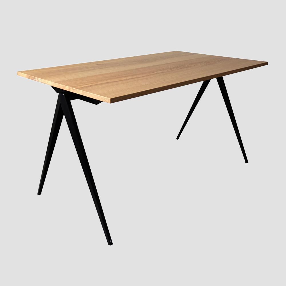 Model TD.4 Table in Black and Oak for GALVANITASBlack