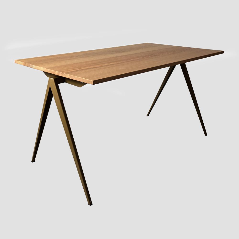 Model TD.4 Table in Black and Oak for GALVANITASPearl Gold