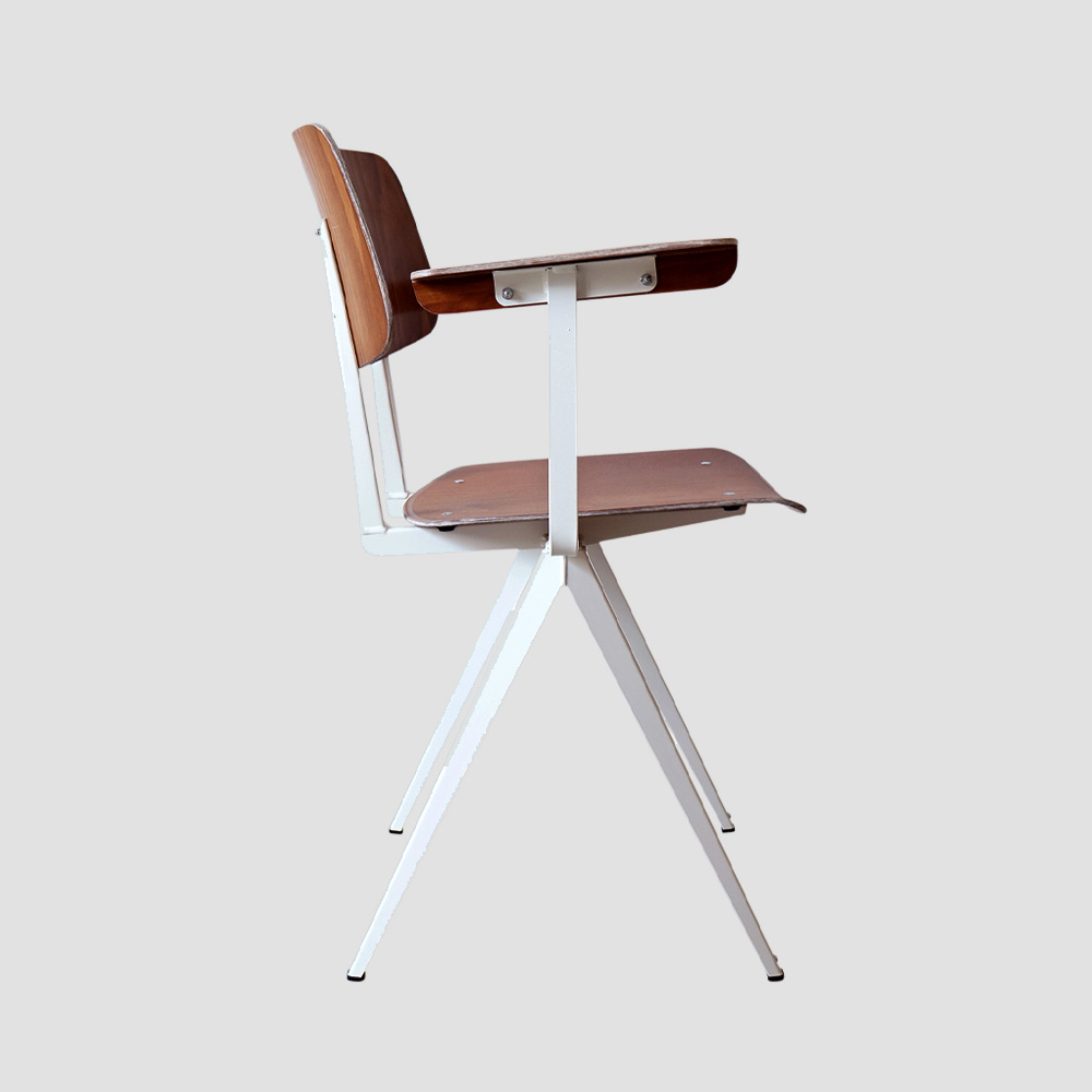 Model S.16 Arm Chair in Brown and Black for GALVANITASBrown & White