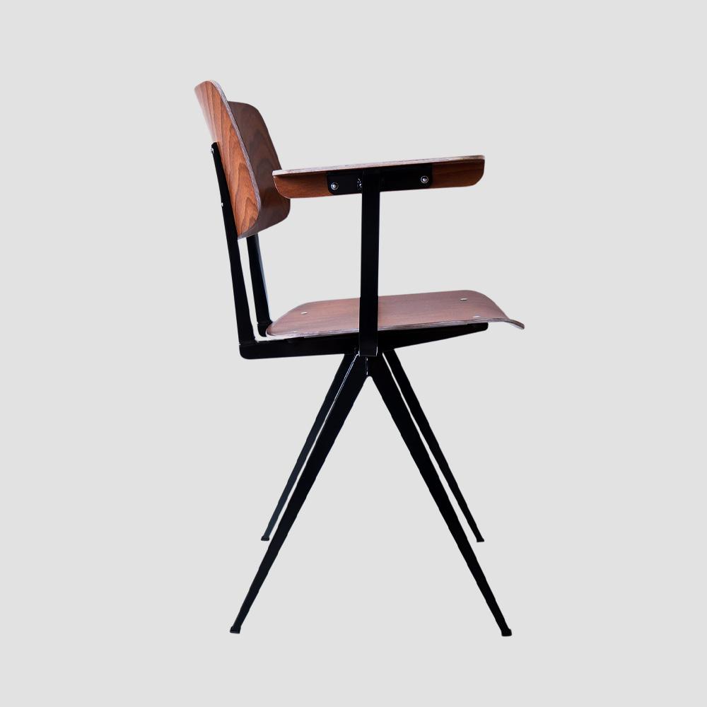 Model S.16 Arm Chair in Brown and Black for GALVANITASBrown & Black