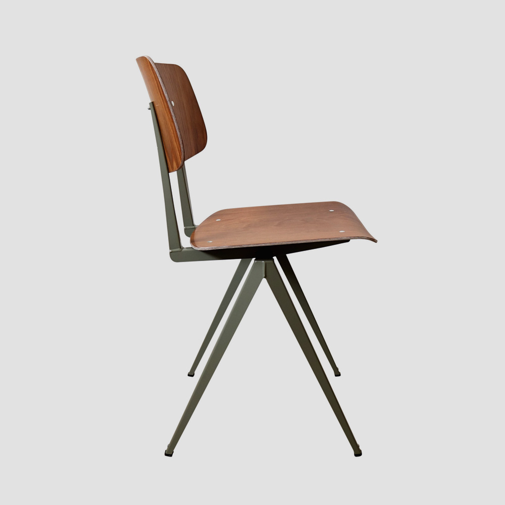 Model S.16 Chair in Ebony and Ocher Brown for GALVANITASBrown & <br>Cement Gray