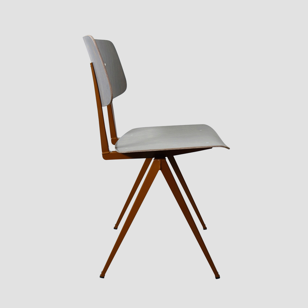 Model S.16 Chair in Ebony and Ocher Brown for GALVANITASGray & <br>Loam Brown