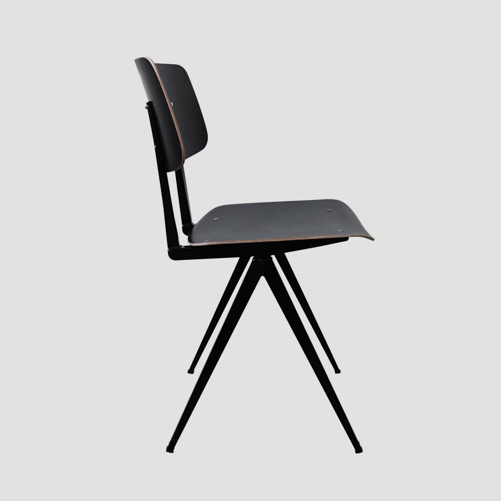Model S.16 Chair in Ebony and Ocher Brown for GALVANITASBlack