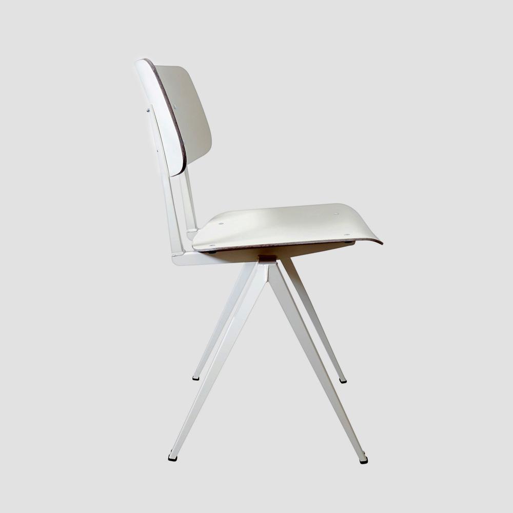Model S.16 Chair in Ebony and Ocher Brown for GALVANITASWhite