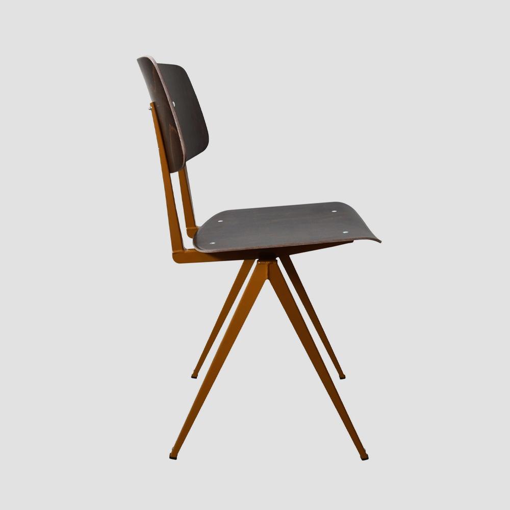 Model S.16 Chair in Ebony and Ocher Brown for GALVANITASEbony & <br>Ocher Brown