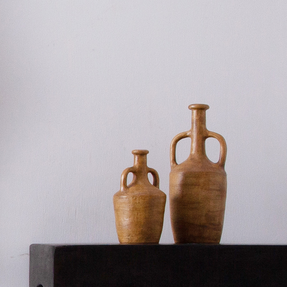 Hand Craft Vase in Yellow and Stone Ware by Luna Mara