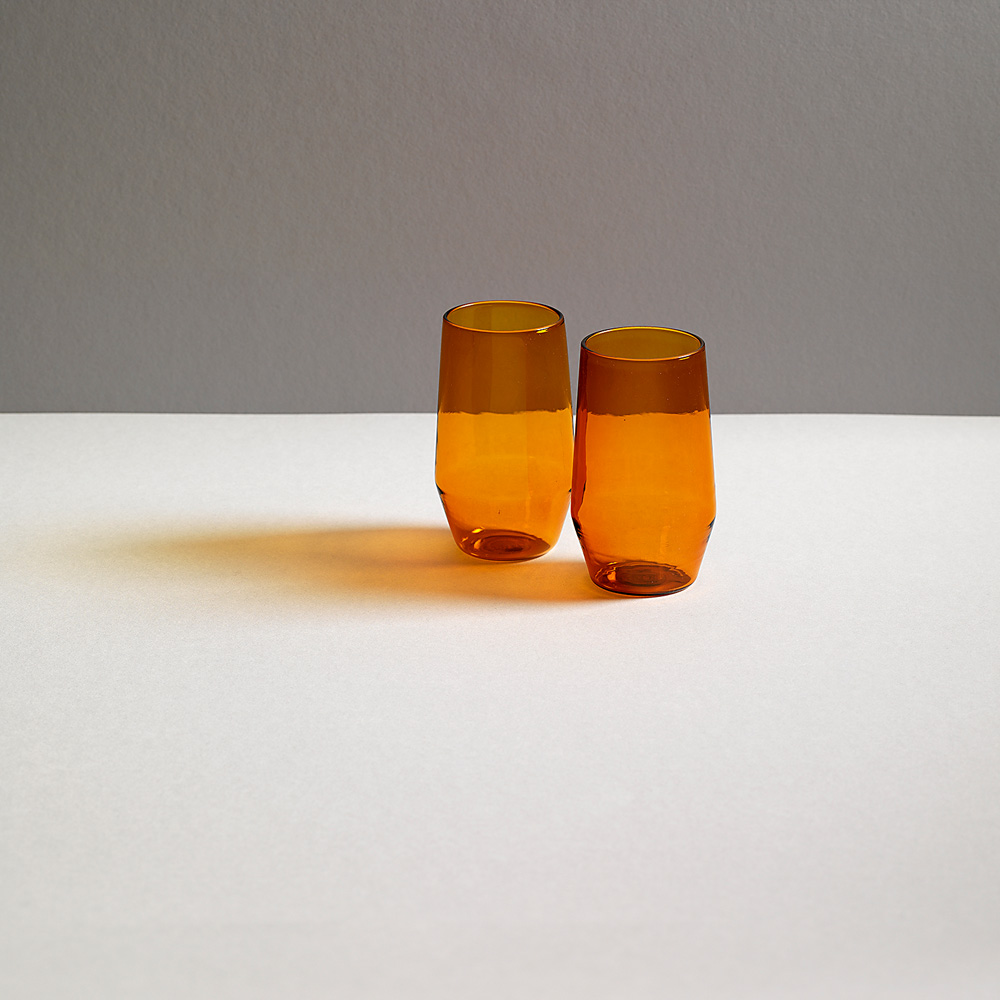 "VINO Glass ""VELASCA"" for R+D.LAB in Amber"