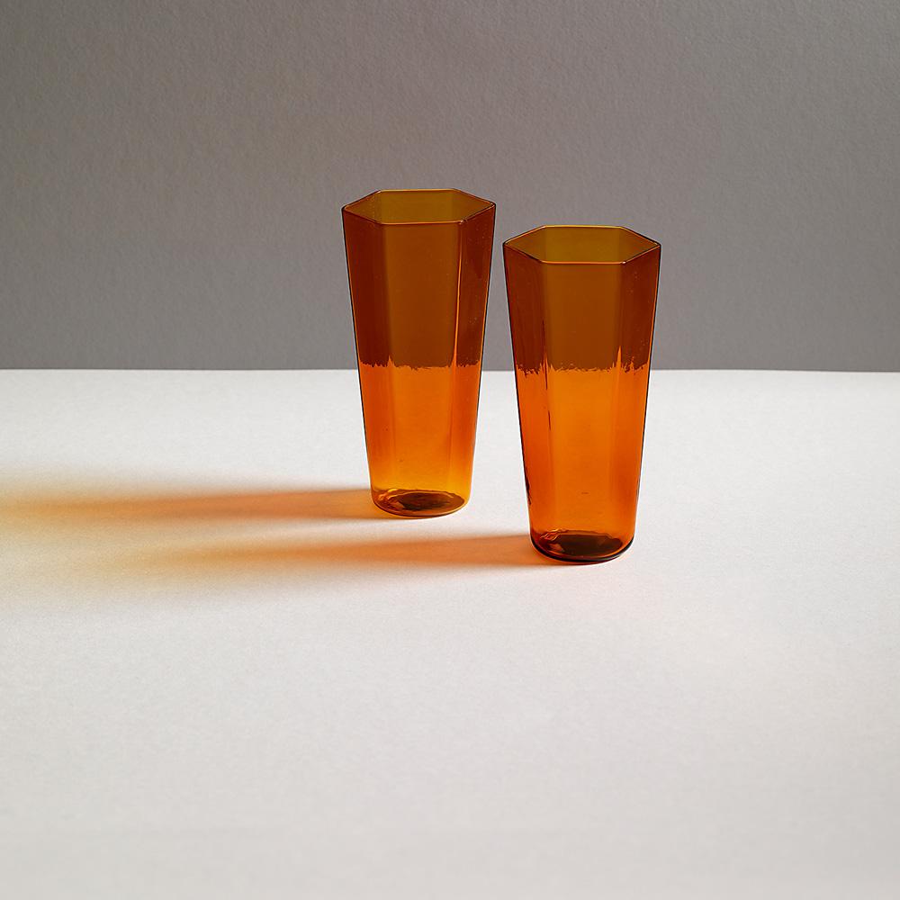 "BEVANDA Glass ""NINI"" for R+D.LAB in Amber"