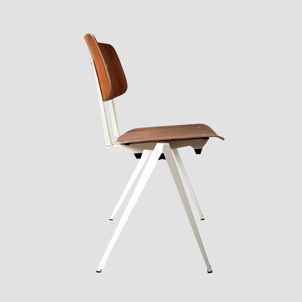 Model S.16 Stacking Chair in Brown and Black for GALVANITASBrown & White