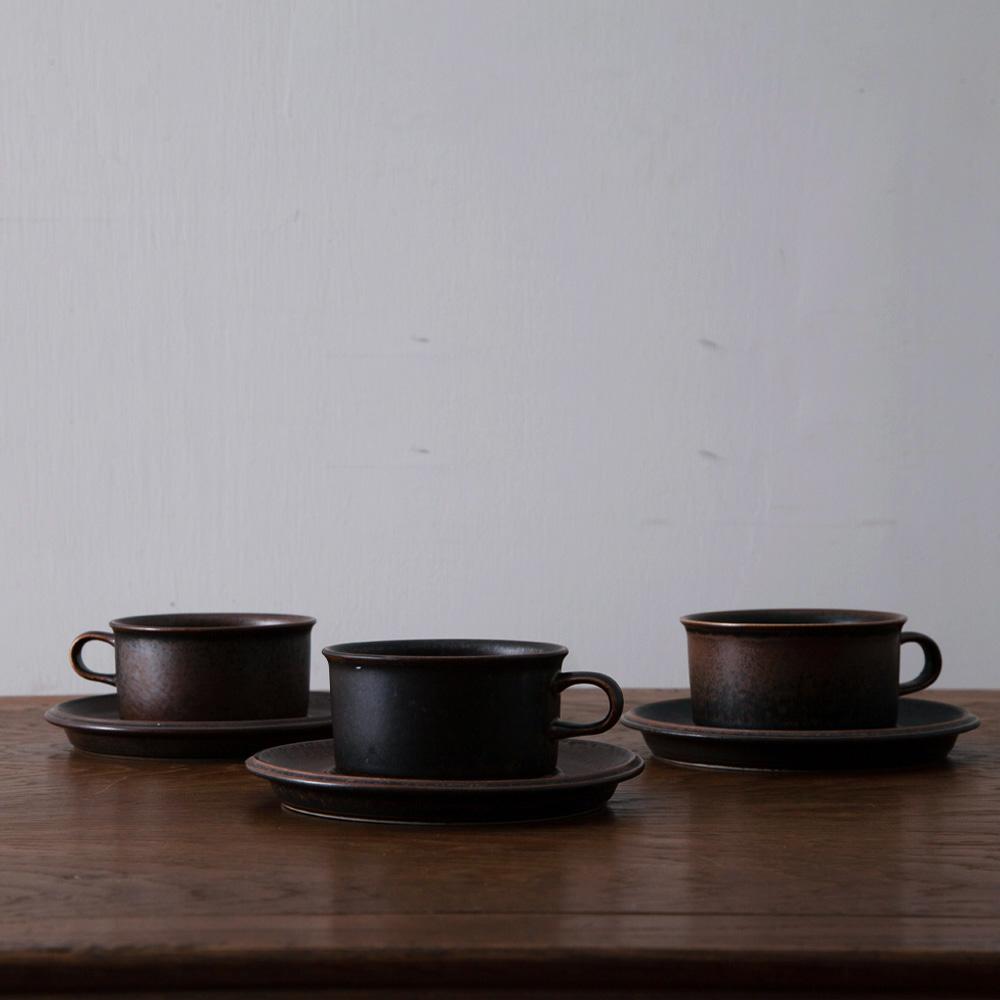 "Tea Cup & Saucer Set "" Ruska "" for ARABIA"